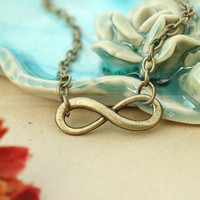 Karma necklace-vintage karma necklace-infinity necklace