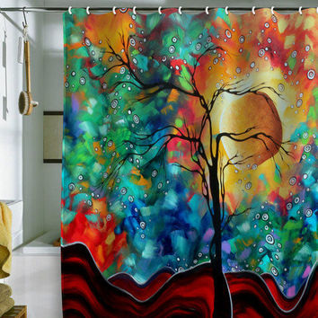 Madart Inc. Bursting Forth Shower Curtain
