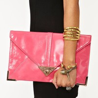 Sharp Edges Clutch - Hot Pink