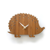 Hedgehog Clock - Modern Baby Wall Clock