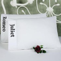 Romeo and Juliet Embroidered Pillowcase Set - Sheets and Pillowcases - Bedding - Touch Of Class