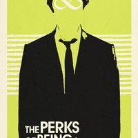 Perks of Being A Wallflower Movie Poster-LIME Art Print by RoarsAdams | Society6