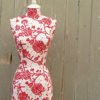 Red & White Mannequin Dressform - Chloe