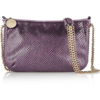 Stella McCartney Faux python shoulder bag – 52% at THE OUTNET.COM