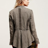 Free People Military Grommets Jacket
