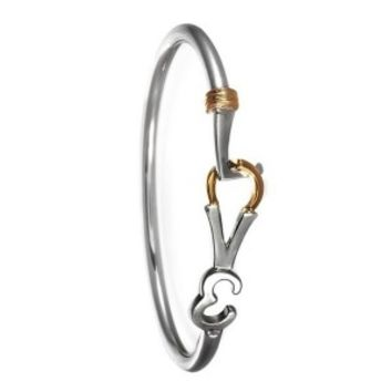 Love Bangle Sterling Silver Gold Plated