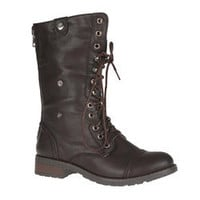Sweet Beauty Women's 'Terra-01' Lace-up Combat Boots | Overstock.com