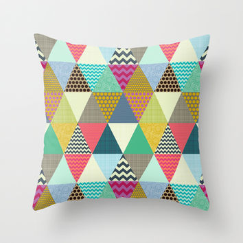 New York Beauty triangles Throw Pillow by Sharon Turner   Society6