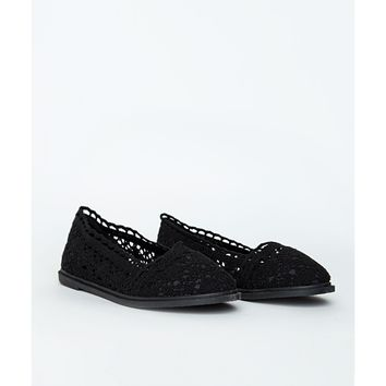 Missguided - Rosaline Black Knitted Dolly Shoes