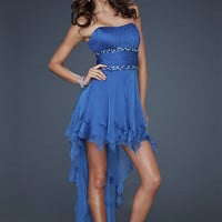 Buy Attractive A-line Scoop Neckline Mini Rhinestones Chiffon Cocktail Dress under 200-SinoAnt.com