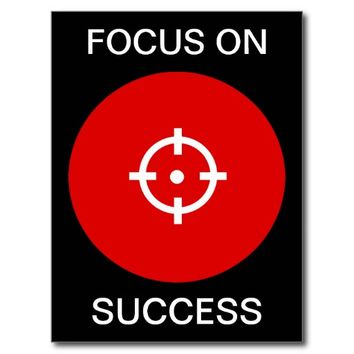 Focus on Success / Red on black target