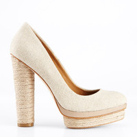 Carly Canvas Platform Pumps