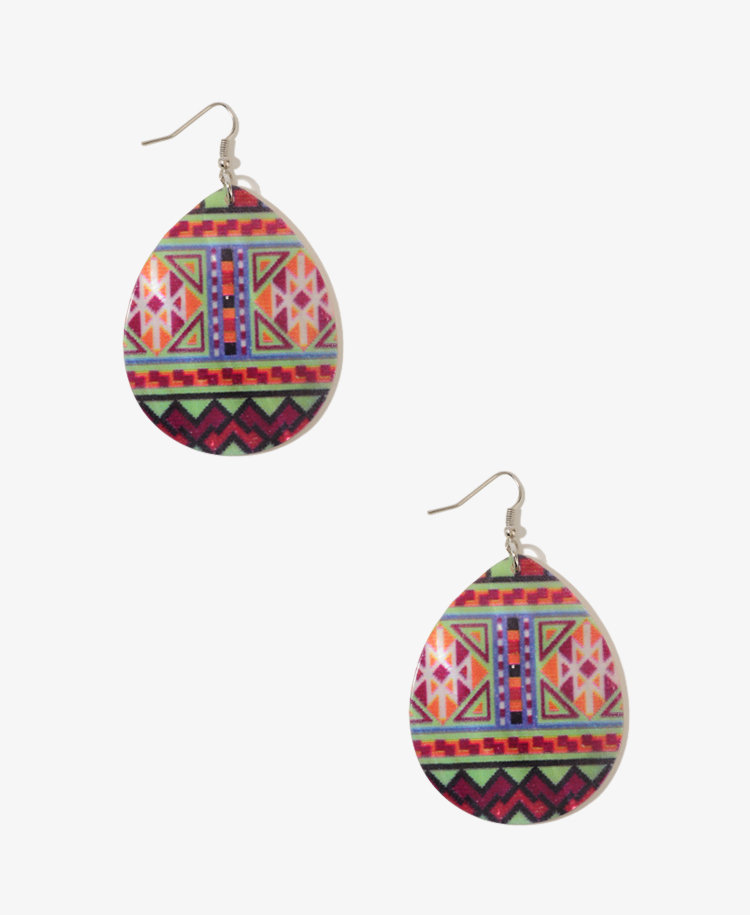 Geo Teardrop Shell Earrings | FOREVER21 - 1017385705