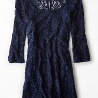 AEO Women's Crocheted Lace Shift Dress