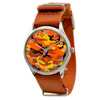 Camouflage Watch in Nylon Band