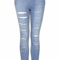 MOTO Salt and Pepper Ripped Jamie Jeans