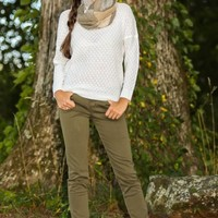 Sleepless In The City Sweater-Ivory