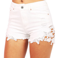 Flora Trim High Waist Shorts | Trendy Shorts at Pink Ice