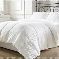 Chezmoi Collection White Goose Down Alternative Comforter, King with Corner Tab:Amazon:Home & Kitchen