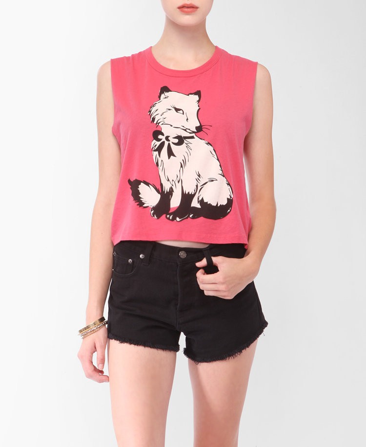 Sleeveless Coy Fox Tee