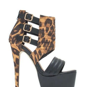 Feeling Quilty Cut-Out Platform Heels