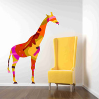 Colorful Giraffe Wall Decal on Luulla