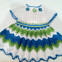 Flamenco Dress for Baby Girl, Crochet Pattern PDF 12-045