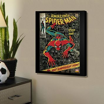 Marvel Spider-Man Spider or Man Comic Cover 20'' x 16'' Canvas Wall Art