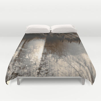 Reign In The Woods Duvet Cover by Timothy Davis