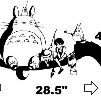 My Neighbor Totoro Inspired and Friends Wall Decal
