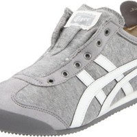 Onitsuka Tiger Women`s Mexico 66 Slip-On Sneaker,Heather Grey/White,10 M US