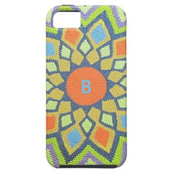 Monogram Tribal Pastels iPhone 5 Case