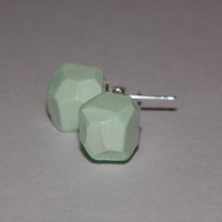 Mint Geo Post Earrings
