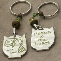 Listen  To  Your  Heart  Token  Keychain  From  Natural  Life
