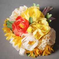Papered Posy Bouquet, Full
