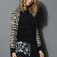 Epic Sequins Sleeves Sweater