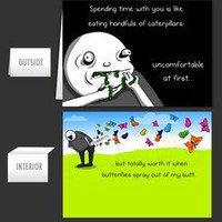 Eating Caterpillars - Greeting Card - The Oatmeal