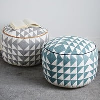 Triangle Printed Pouf