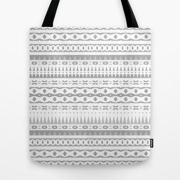 Gray Aztec Tote Bag by Ornaart