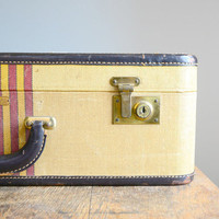 Vintage Striped Arflite Suitcase