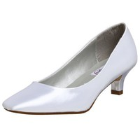 Dyeables Women`s Abbey Pump,White,8 M