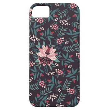 Stylish Modern Floral Pattern iPhone 5 Case