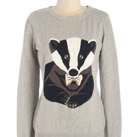 Badger of Honor Sweater | Mod Retro Vintage Sweaters | ModCloth.com