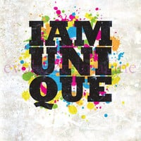 Evoke & Imagine - I Am Unique - Art Print & Canvas