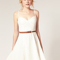 Dahlia | Dahlia Broderie Bust Cup Dress at ASOS