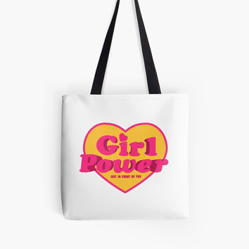 Girl Power Heart Shaped Typographic Design Quote