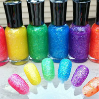 Neon and Glitter and Flakies Oh My - New Tammi's Tips Neon Collection