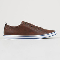 'Collider' Brown leather look sneakers