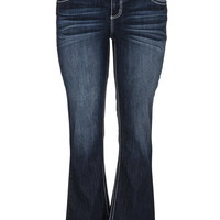 ellie dark wash slim boot plus size jeans