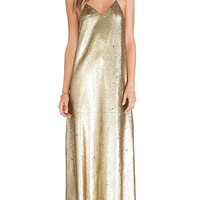 Finders Keepers Dream On Maxi Dress in Metallic Gold